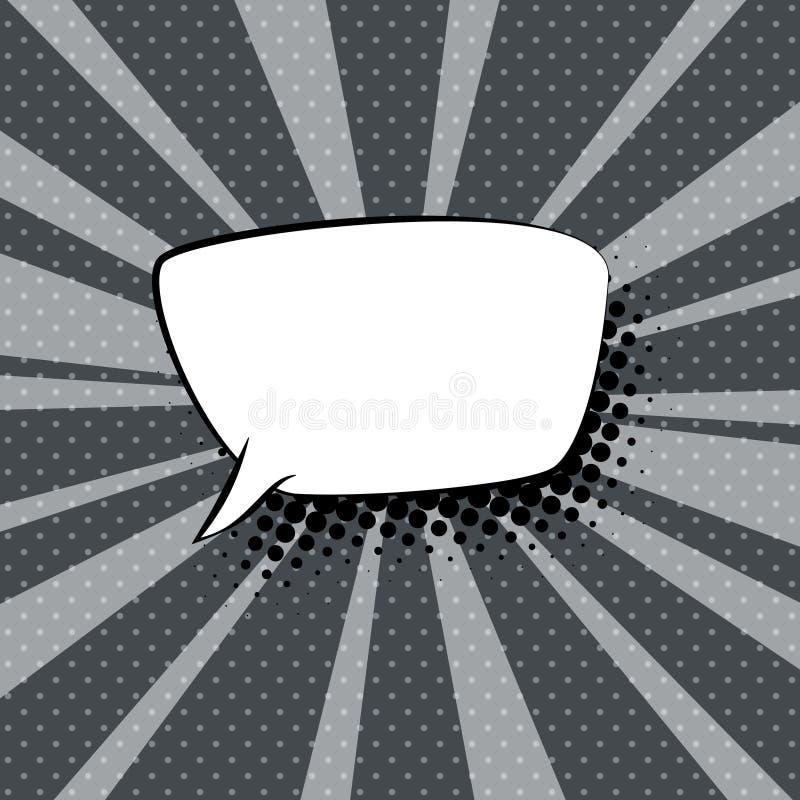 Toespraakbel op Gray Retro Background royalty-vrije illustratie