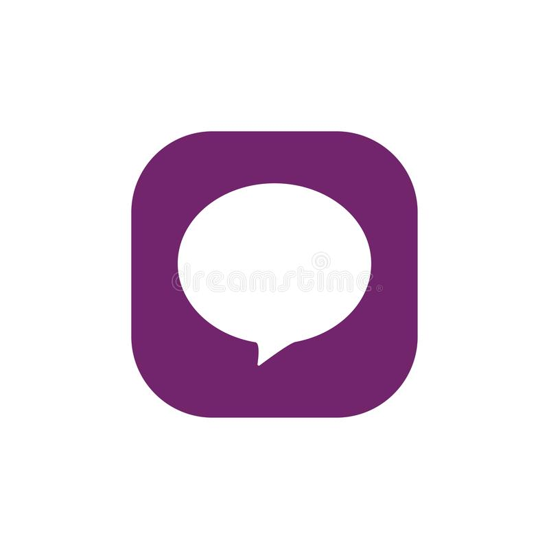 Toespraakbel, toespraakballon, het vectorpictogram van de praatjebel voor apps en websites stock illustratie