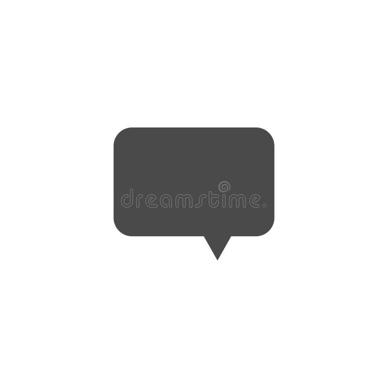 Toespraakbel, toespraakballon, het vectorpictogram van de praatjebel voor apps en websites royalty-vrije illustratie