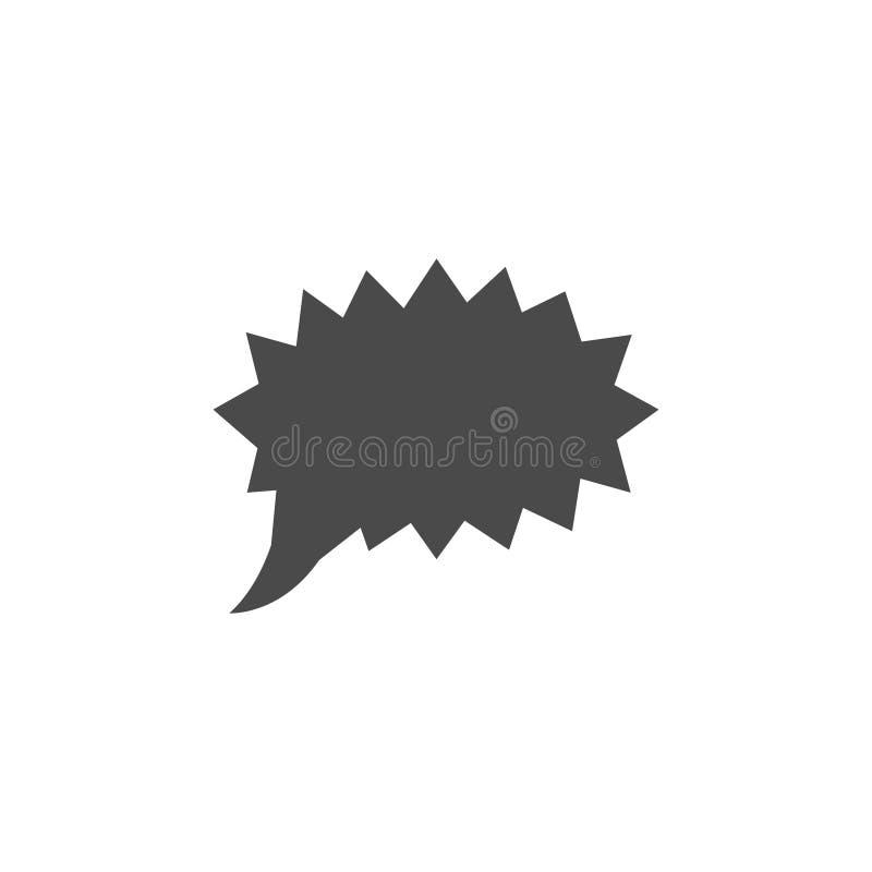 Toespraakbel, toespraakballon, het vectorpictogram van de praatjebel voor apps en websites vector illustratie