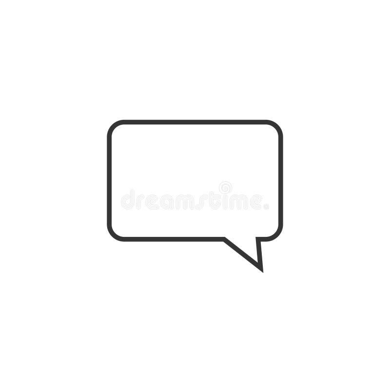 Toespraakbel, toespraakballon, van de de lijnkunst van de praatjebel het vectorpictogram voor apps en websites stock illustratie