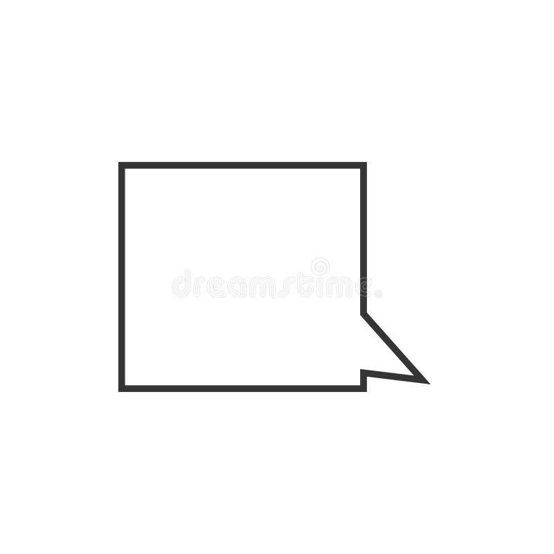 Toespraakbel, toespraakballon, van de de lijnkunst van de praatjebel het vectorpictogram voor apps en websites royalty-vrije illustratie