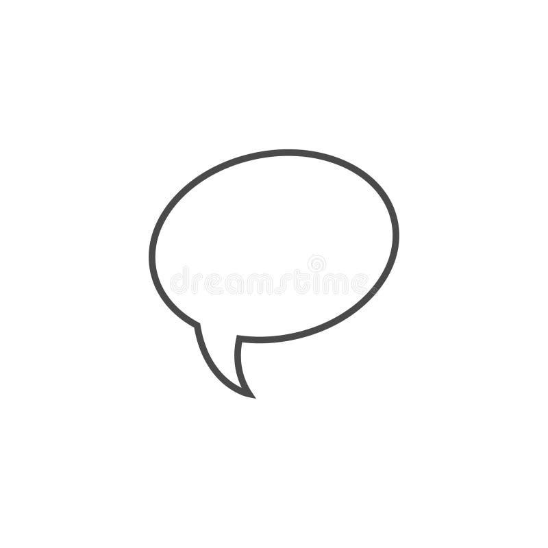 Toespraakbel, toespraakballon, van de de lijnkunst van de praatjebel het vectorpictogram voor apps en websites stock foto