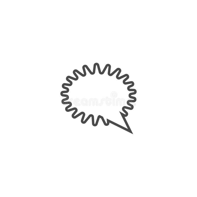 Toespraakbel, toespraakballon, van de de lijnkunst van de praatjebel het vectorpictogram voor apps en websites vector illustratie