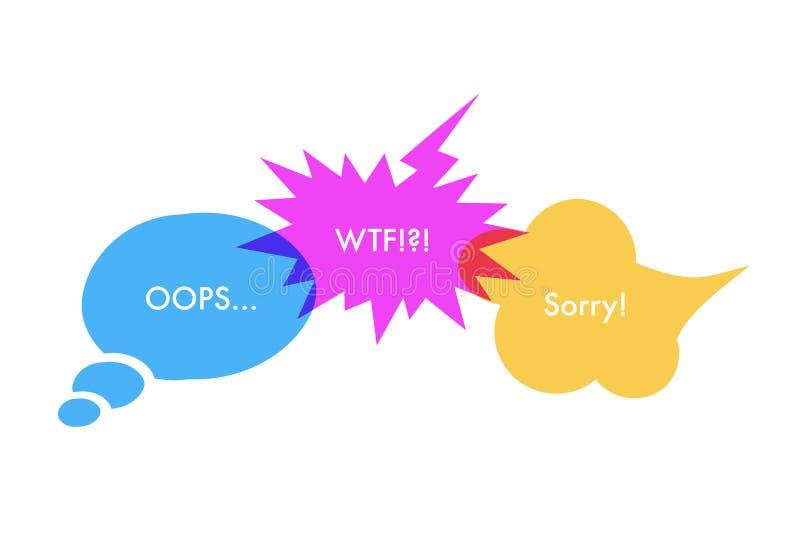 Toespraakbellen en van jargonuitdrukkingen illustratie vector illustratie