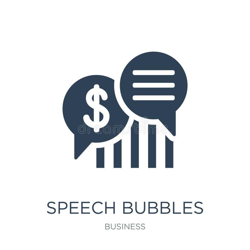 toespraakbellen met dollarpictogram in in ontwerpstijl toespraakbellen met dollarpictogram op witte achtergrond wordt geïsoleerd  vector illustratie