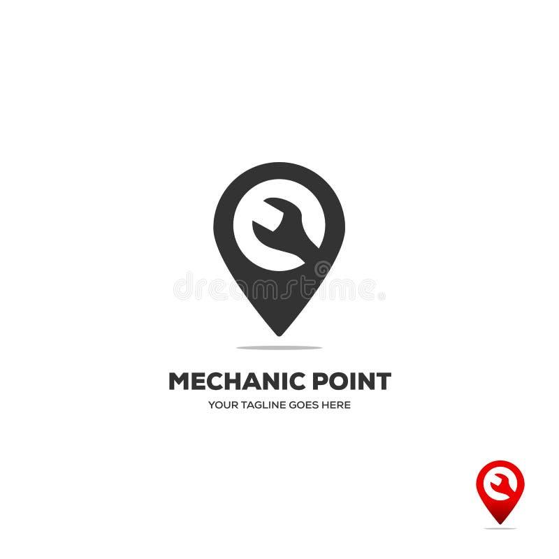 Toestel en wranch Kaartplaatsnavigatie Logo Design vector illustratie