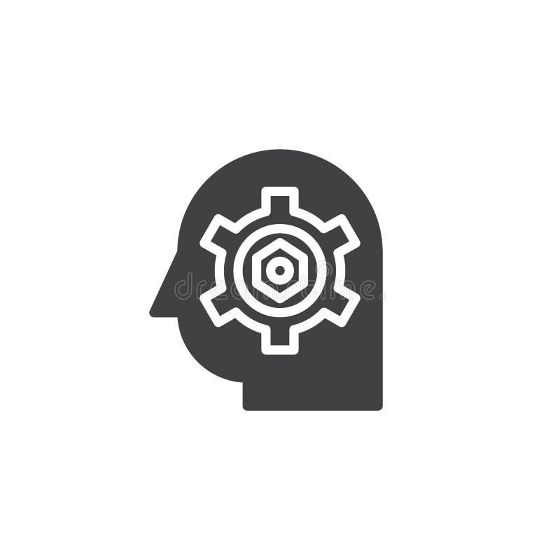 Toestel in hoofd vectorpictogram royalty-vrije illustratie