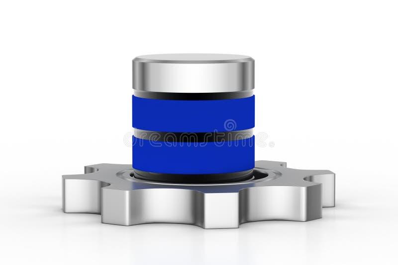 Toestel met batterij royalty-vrije illustratie