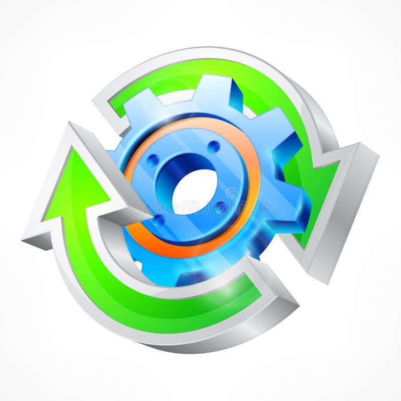 Toestel met ronde pijlen vector illustratie