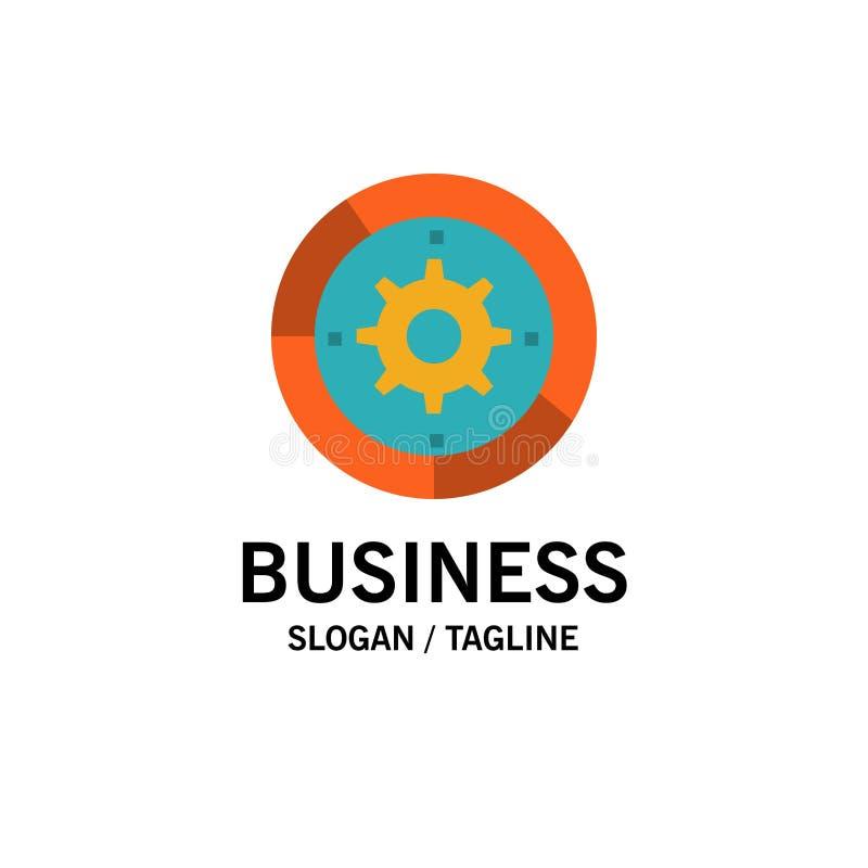 Toestel, Montages, Opstelling, Motor, Proceszaken Logo Template vlakke kleur royalty-vrije illustratie