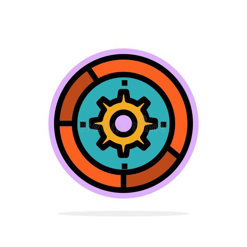 Toestel, Montages, Opstelling, Motor, van de Achtergrond proces Abstract Cirkel Vlak kleurenpictogram royalty-vrije illustratie