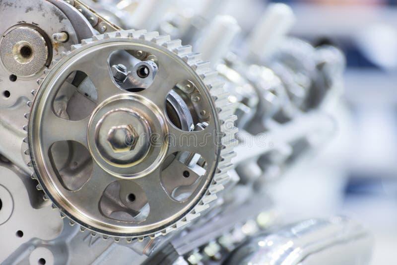 Toestel van aandrijving van een gas-verdelend mechanisme van de automobiele motor stock afbeeldingen