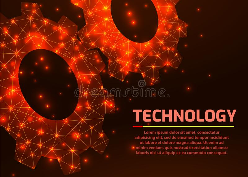 Toestellen E Mechanische technologiemachine stock illustratie