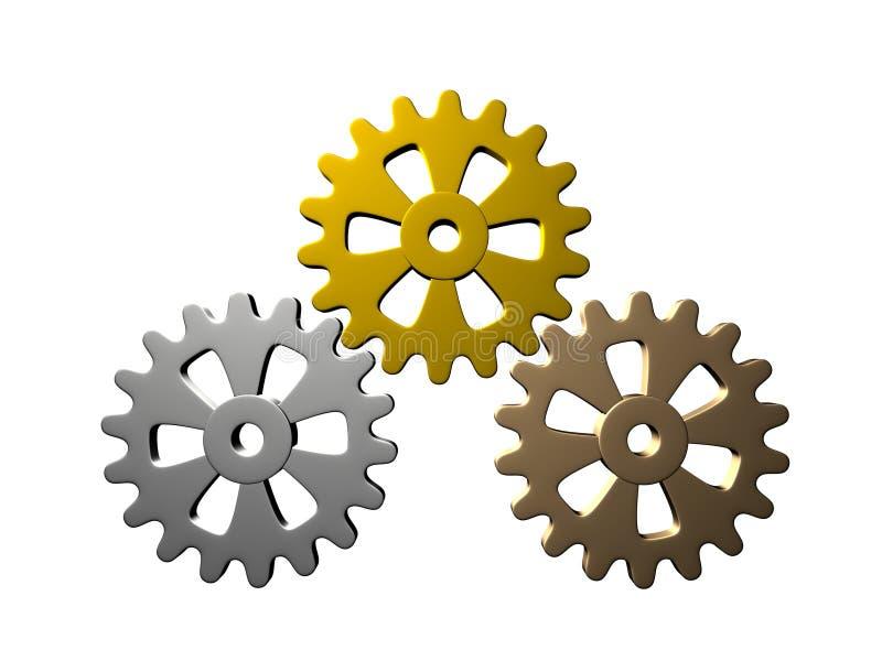 Toestellen (Goud, Zilver, Brons) vector illustratie