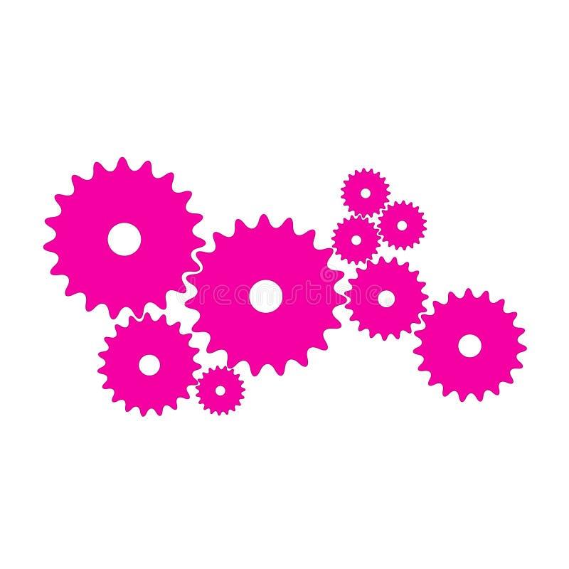 Toestellen in roze ontwerp stock foto's