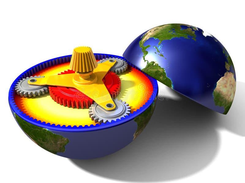 Toestellen van Aarde stock illustratie