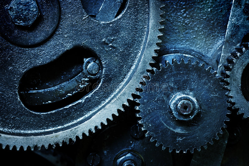 Toestellen van oud mechanisme stock afbeeldingen