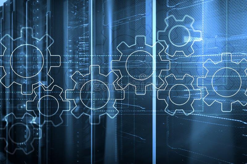 Toestellenmechanisme, digitale transformatie, gegevensintegratie en digitaal technologieconcept royalty-vrije stock foto's