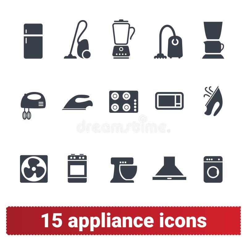 Toestellenpictogrammen Symbolen van huis de Elektronische Apparaten royalty-vrije illustratie