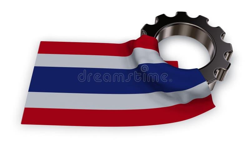 Toestelwiel en vlag van Thailand royalty-vrije illustratie