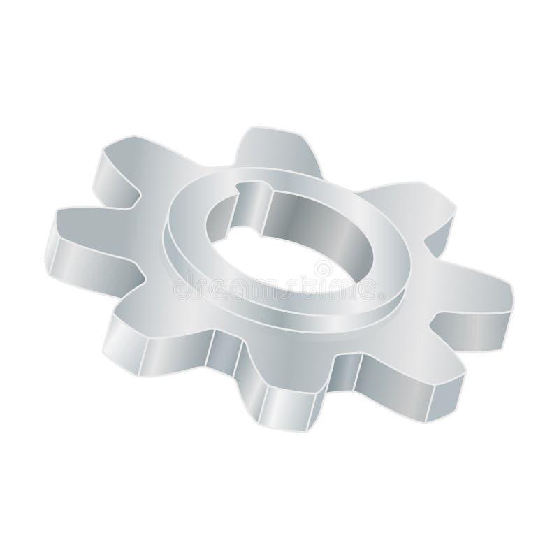 Toestelwiel Metaal 3d deel stock illustratie