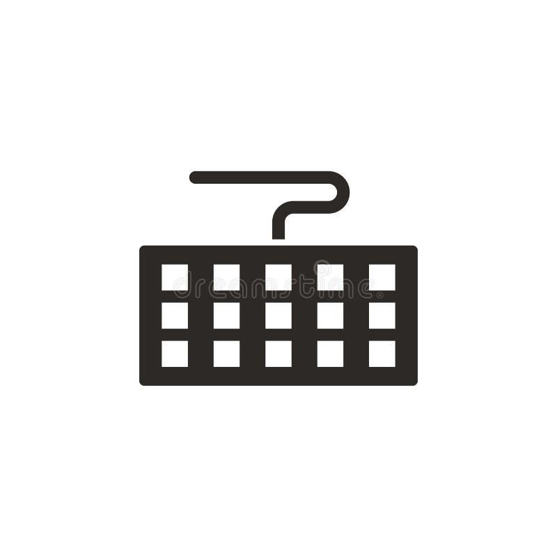 Toetsenbord, computerpictogram - Vector Eenvoudige elementenillustratie van UI-concept Toetsenbord, computerpictogram - Vector In royalty-vrije illustratie
