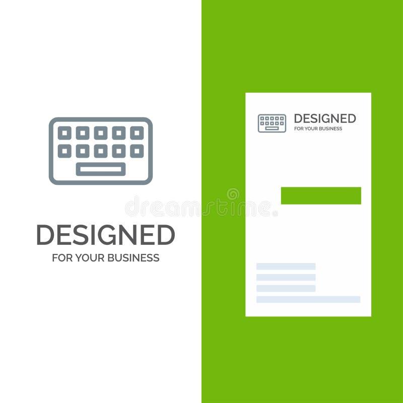 Toetsenbord, het Typen, Raad, Zeer belangrijk Grey Logo Design en Visitekaartjemalplaatje royalty-vrije illustratie