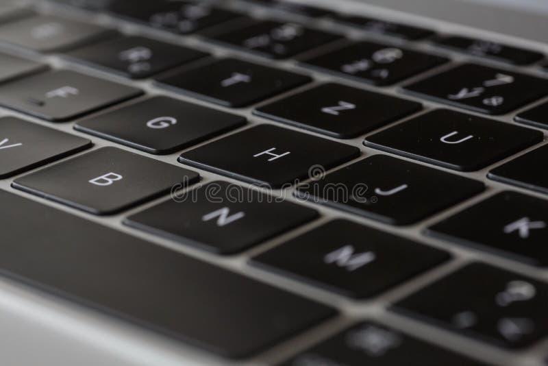 """Toetsenbord - MacBook 12"""" zilver eerste gen royalty-vrije stock afbeeldingen"""