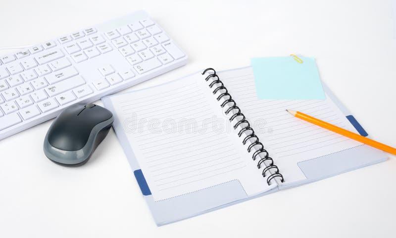 Toetsenbord met computermuis royalty-vrije stock afbeelding