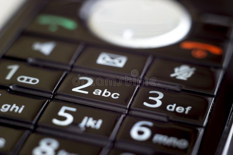 Toetsenbord op een oude telefoon royalty-vrije stock foto