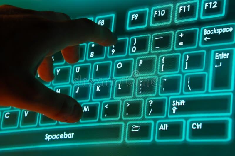 Toetsenbord op scherm stock afbeeldingen