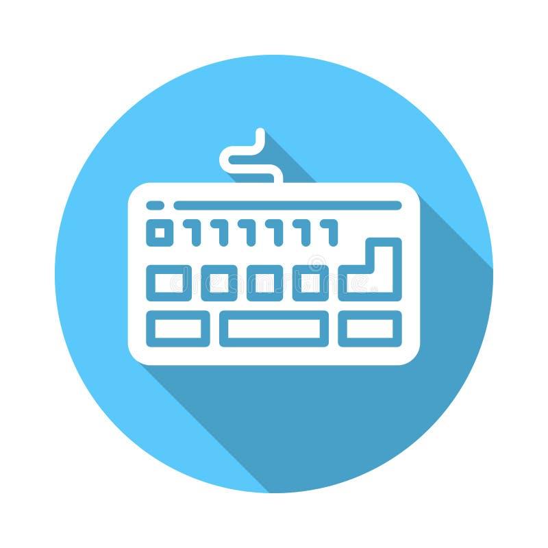 Toetsenbord vlak pictogram stock illustratie