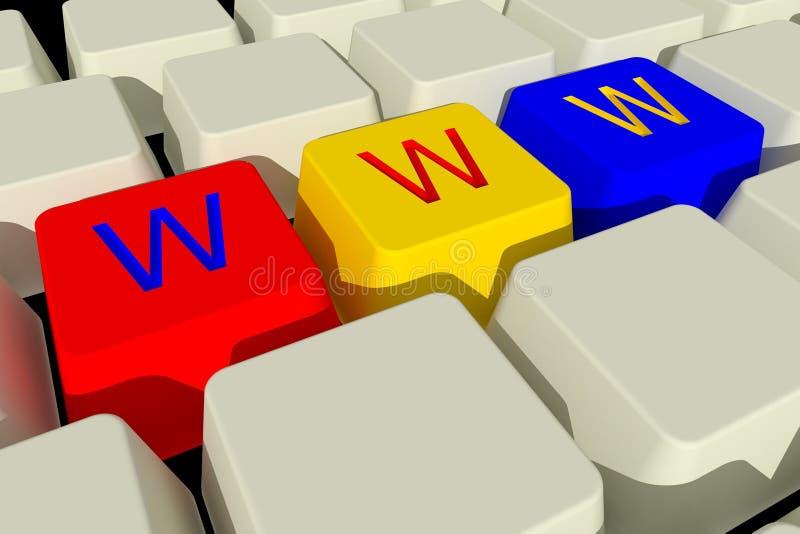 Toetsenbord www royalty-vrije illustratie