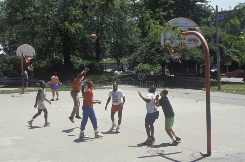 Toevallig Basketbalspel, Chicago, Illinois royalty-vrije stock afbeeldingen