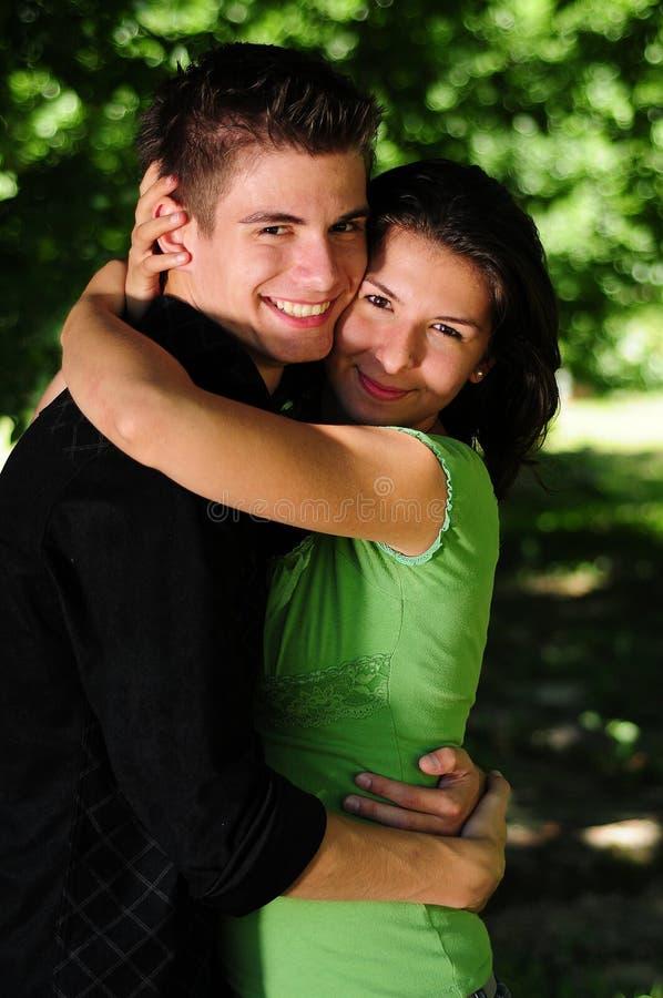 Toevallig paar in liefde royalty-vrije stock afbeelding