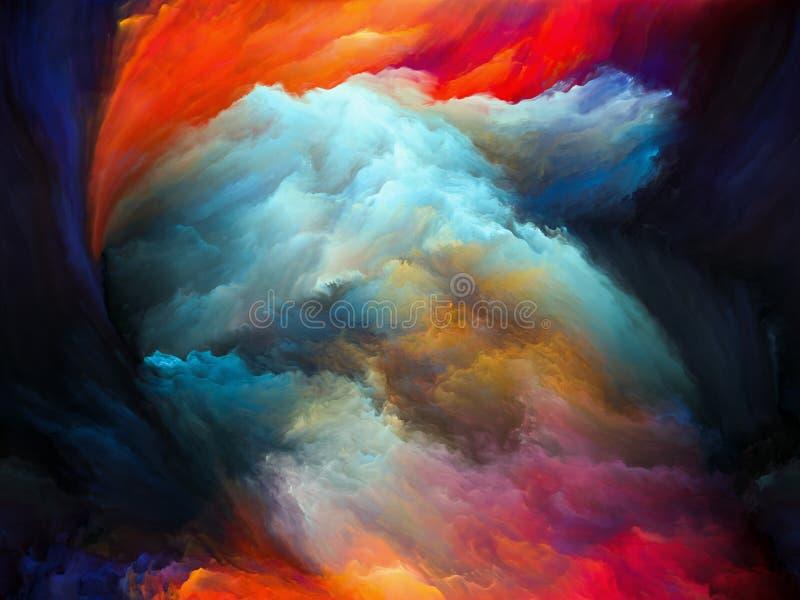 Toevallige Kleurenmotie stock illustratie