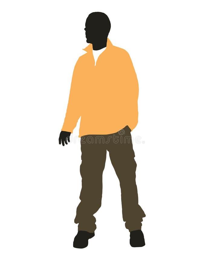 Toevallige mens vector illustratie