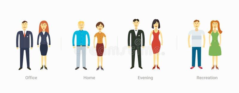Toevallige vastgestelde karakters voor gebruik in ontwerp vector illustratie
