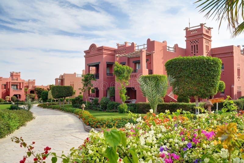 Toevlucht dichtbij het overzees in Sharm el Sheikh, Egypte royalty-vrije stock afbeeldingen