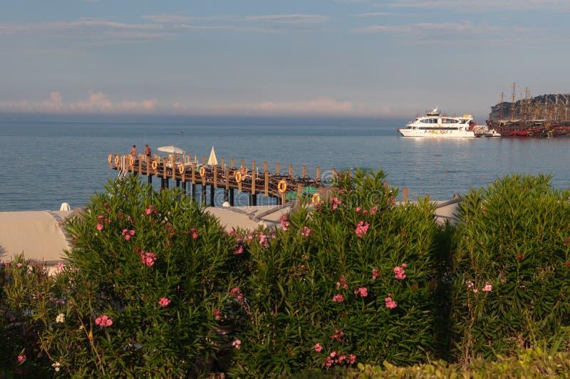 Toevlucht op de Middellandse Zee, Kemer, Antalya, Turkije stock fotografie