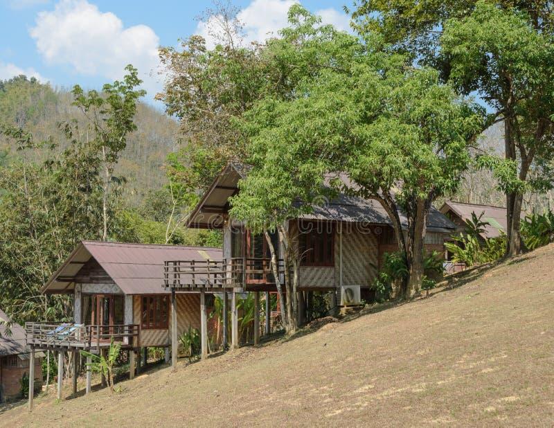 Toevluchthuis op de berg royalty-vrije stock foto