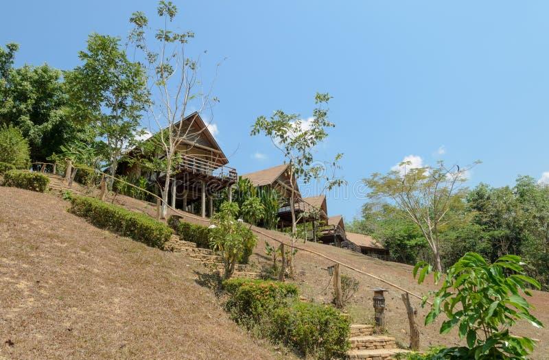 Toevluchthuis op de berg royalty-vrije stock afbeeldingen