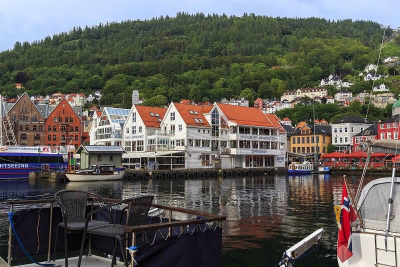 Toevluchtsoord oud Bergen stock afbeelding