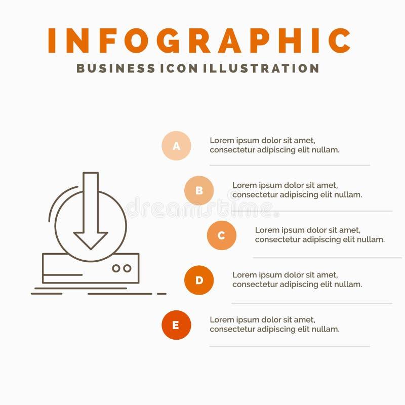 Toevoeging, inhoud, dlc, download, het Malplaatje van spelinfographics voor Website en Vorm r royalty-vrije illustratie