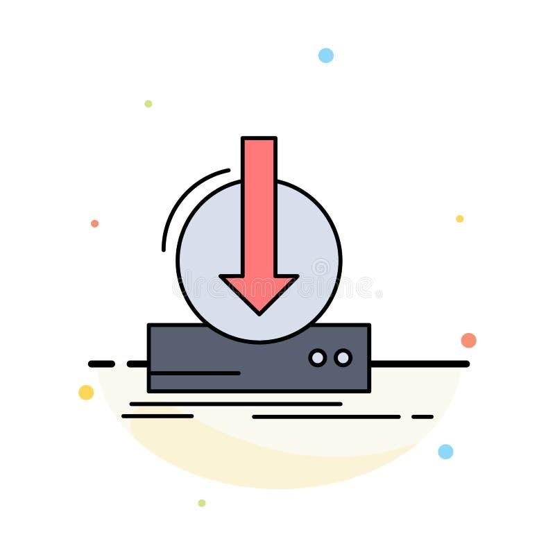Toevoeging, inhoud, dlc, download, het Pictogramvector van de spel Vlakke Kleur vector illustratie