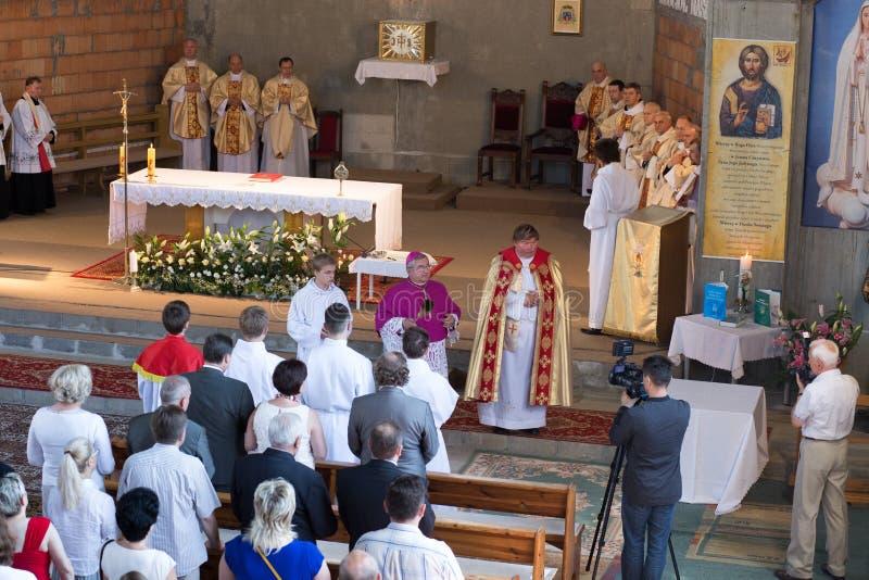 Toewijding van de Kerk. stock fotografie