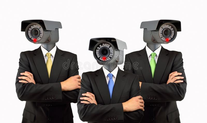 Toezichtsysteem bij collectief stock foto