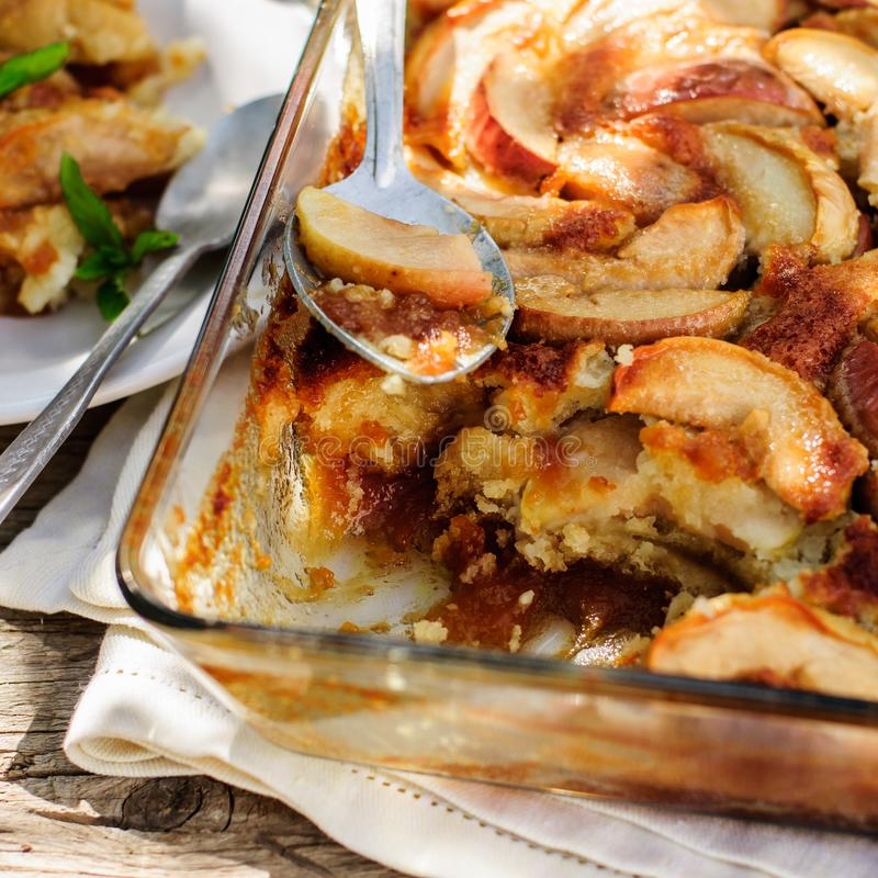 Toffee Apple pudding obraz royalty free
