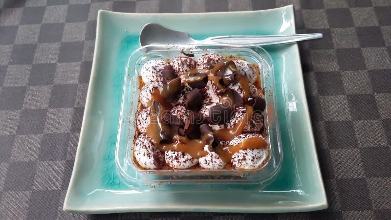 Toffee banoffee Torten lizenzfreies stockfoto